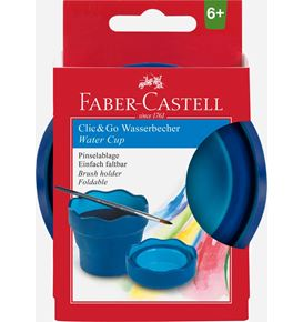Faber-Castell - Water cup Clic&Go blue