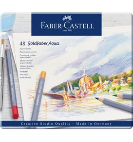 Faber-Castell - Goldfaber Aqua watercolour pencil, tin of 48