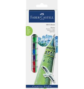 Faber-Castell - Starter set Oil colours, wallet of 12, 12x 12 ml tube