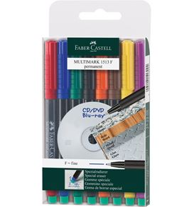 Faber-Castell - Multimark overhead marker permanent, F, wallet of 8