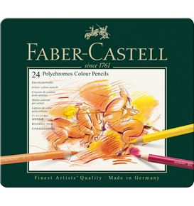 Faber-Castell - Colour Pencil Polychromos tin of 24