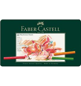 Faber-Castell - Polychromos pastel, tin of 60