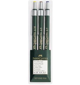Faber-Castell - Mechanical pencil TK-Fine wallet of 3, green