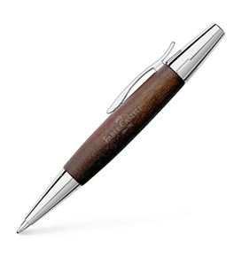 Faber-Castell - Ballpoint pen e-motion pearwood dark brown
